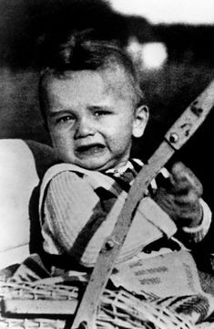 Arnold Alois Schwarzenegger, as a child in Austria in 1949, aged two