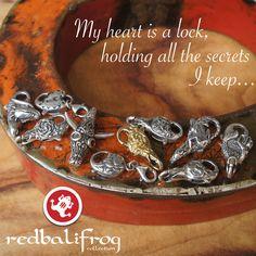#redbalifrog #lock #jewellery #beads #silver