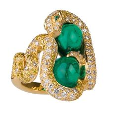 Bewitching Snakes, Boa ring by Boucheron