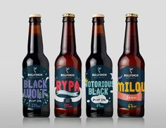 Young British Brewery gets Playful Packaging Design Beer Labels / Simkin Design - Bullfinch Brewery / World Brand & Packaging Design Society│Home of Packaging Design│Branding│Brand Design│CPG Design│FMCG Design