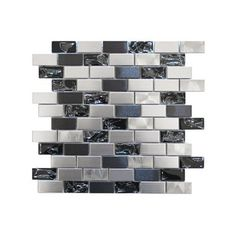 Stainless Steel and Crackled Glass Mosaic Mix Sample - contemporary - kitchen tile - Eden Mosaic Tile Contemporary Kitchen Tiles, Contemporary Bedroom, Contemporary Building, Contemporary Cottage, Contemporary Apartment, Contemporary Chandelier, Contemporary Office, Kitchen Modern, Contemporary Landscape