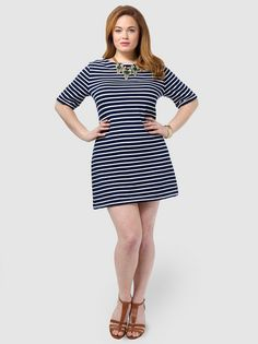 Nautical Stripe Tunic Dress. This was SO short. I wore with leggings and got lots of compliments. I ended up finding a similar dress that was longer and bought that for my permanent collection.