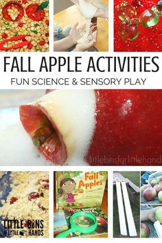 Fall Apple Activities for Kids with apple science and apple sensory play good for preschool and kindergarten age kids-3