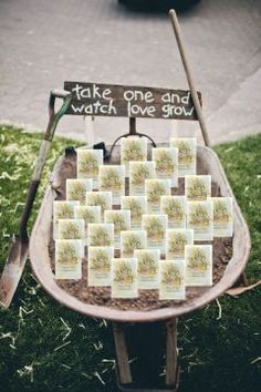 Country Garden Wedding Favors: Adorable idea for wedding favors $1.35 each, personalized, thank you,seeds
