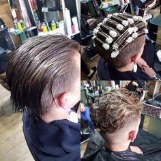 Men's Hair, Haircuts, Fade Haircuts, short, medium, long, buzzed, side part, long top, short sides, hair style, hairstyle, haircut, hair color, slick back, men's hair trends, disconnected, undercut, pompadour, quaff, shaved, hard part, high and Perm Hair Men, Mens Perm, Men's Hair, Hair Art, Short Permed Hair, Permed Hairstyles, Short Hair Cuts, Disconnected Haircut, Men Hair Color