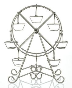 Godinger Serveware, Ferris Wheel Cupcake Stand - Web Busters - Dining & Entertaining - Macy's (probably don't need this but still pretty cute! Circus Carnival Party, Carnival Themes, Vintage Carnival, Carnival Birthday, Circus Theme, 10th Birthday, Birthday Ideas, Cake And Cupcake Stand, Cupcake Display