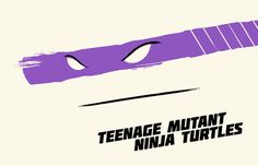 Ninja Turtles are marked by their weapons in these posters