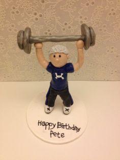 Bodybuilder Cake Topper