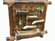 Bambus dekoracija na zidu, Bambus vodena fontana | Moj bambus. Bambus štapovi