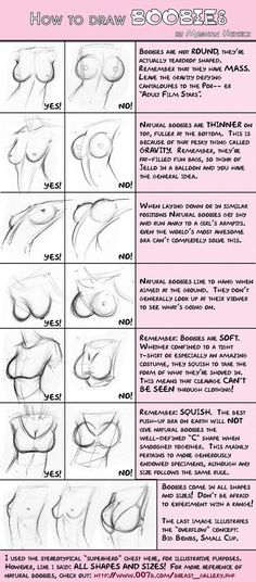 FYI, comic art nerds: How to draw boobs.