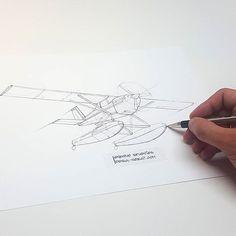 Bush Caddy R80. #sketch #sketcheveryday #airplane #canada #bushpilot #bushcaddy #aircraft #avgeek