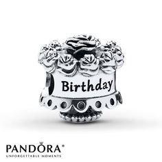 Pandora Charm Happy Birthday Sterling Silver - This would be AWESOME for my 45th Birthday in Feb 2015!