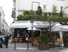 La Palette, St Germain des Pres...great place for an appertif and small open-faced sandwiches to wash away your workday,