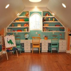 Kids Design - great storage and desk area