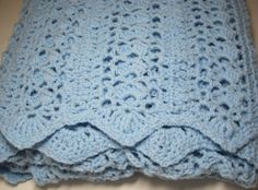Crocheted Baby Boy Baby Girl Lacy Shells Baby by AfghansForBabies, $70.00