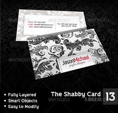 The Shabby Card — Photoshop PSD #grey #clean • Available here → https://graphicriver.net/item/the-shabby-card/546530?ref=pxcr