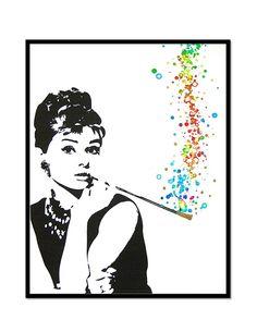 Audrey Hepburn Breakfast at Tiffany Quote White by sherryannshop