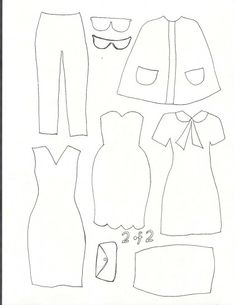 Cartamodelli vestiti bambole