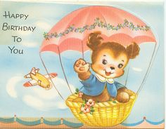 Happy birthday to you! #vintage #birthday #card #cute