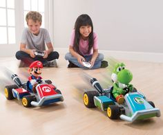 Remote-controlled cars to take Mario Kart racing off your TV screen and onto your floor.