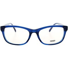 e8d68bd9a59a Fendi FE 980 442 Blue Square Plastic Eyeglasses ( 90) ❤ liked on Polyvore  featuring