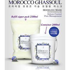 Premium MOROCCO GHASSOUL Masque Powder Modeling Mask 2000ml Gift-Tools or Turban #Anskin