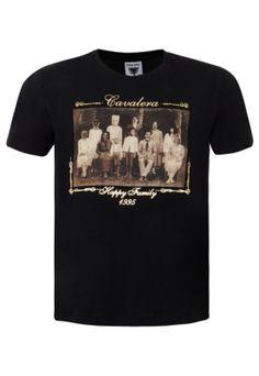 Camiseta Cavalera Indie Happy Family Preta - Compre Agora   Dafiti