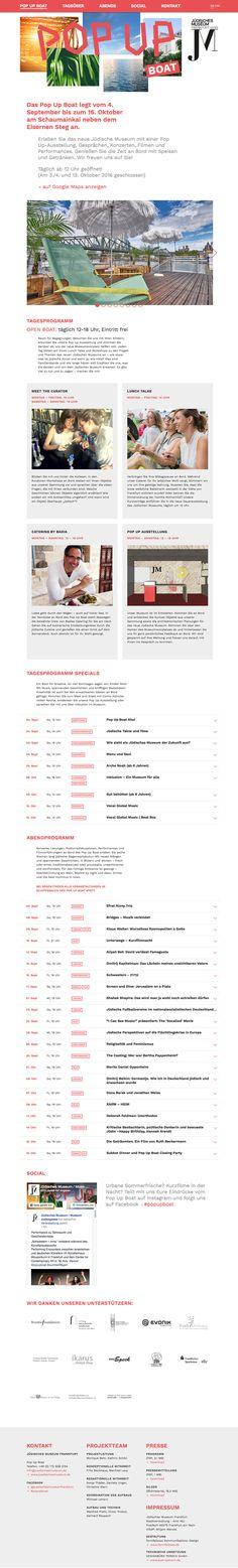 POP UP BOAT Responsive Website, Onepager Pop Up, Boat, Website, Design, Dinghy, Popup, Boats, Design Comics