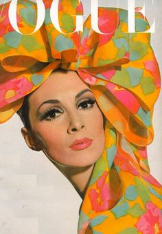 to ward off tuesday blues, i recommend a bow.    US Vogue, 1965