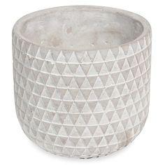 Cache-pot en ciment à motifs MULTI-TRIANGLES