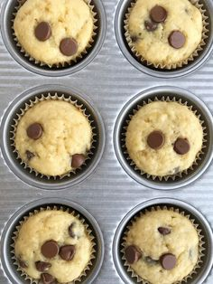 Greek Yogurt Chocolate Chip Banana Muffins | Banana Muffin Recipe | Greek Yogurt Recipe | Muffins | Banana Muffins | Greek yogurt banana muffins are loaded with chocolate chips and protein rich Greek yogurt. A quick and simple banana muffin recipe with added nutrition. #muffins #bananabread #chocolate #snacks