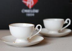 Ewa espresso cup gold strip Filiżanka Ewa espresso złoty pasek