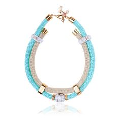 Cord And Ceramic Statement Necklace