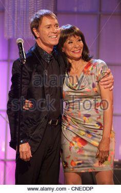 Sir Cliff Richard and Freda Payne PERSONALITY TV - Stock Photo