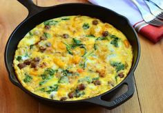 Sausage, Spinach, Peppers and Potato Frittata