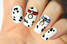 Nail art Disney : les 101 dalmatiens