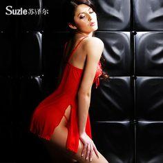 Suze Er femeie fierbinte de vară cămașă de noapte sexy transparent ultrascurte ispită curele lenjerie sexy pijamale 80530 - Zuru air Services