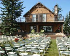 A charming backyard farm wedding in Calgary, Alberta. Outdoor wedding reception, rustic wedding ideas.