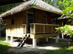 Native Rest House Design In Philippines Bamboo House Bali, Bamboo House Design, Simple House Design, Cool House Designs, Modern House Design, Hut House, Tiny House Cabin, Bahay Kubo Design Philippines, Filipino House