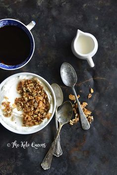 Breakfast Spread of Cinnamon Toast Crunch Low Carb Homemade Granola Recipe