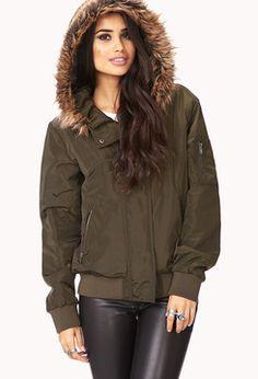 FOREVER 21 Desert Cool Faux Fur-Trimmed Coat on shopstyle.com