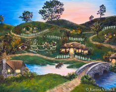Hobbit Hole, The Hobbit, Tolkien, Fairytale House, Painting Prints, Canvas Prints, Middle Earth, Lord Of The Rings, All Art