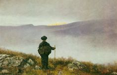 Far, far away Soria Moria Palace shimmered like gold by Theodor Kittelsen