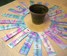 To one of the many lovely Montessori teachers I met today at the Maine Montessori Association Workshop: Email me your mailing address at sp. Affirmations For Kids, Positive Affirmations, Childrens Yoga, Little Buddha, Positive Self Talk, Easy Craft Projects, Art Projects, Raising Girls, Affirmation Cards