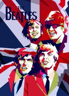 The Beatles pop art illustration Beatles Poster, The Beatles, Pop Art Posters, Poster Prints, Pop Art Artists, Polygon Art, Ticket To Ride, Pop Art Illustration, Pop Art Portraits