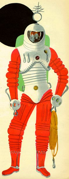 Cosmonaut from Big Book of Space, 1953 ( Retro futurism / vintage future / atomic age / space race )