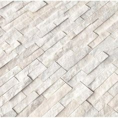x Stone Marble Splitface Tile in Arctic White – Stone fireplace living room