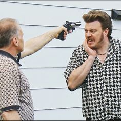 Trailer Park Boys What's Ricky saying to George Green? Trailer Park Boys Ricky, George Green, Blues, Fandoms, Number, Tv, People, Mens Tops, Life