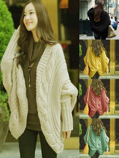 Zanzea® 6 Colours V-Neck Batwing Sleeve Knitted Cardigans