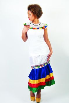 african inspired gowns | South African inspired skirt and collar, £70, Cerrura Fashions
